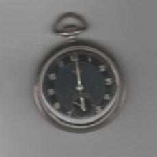 Relojes de bolsillo: RELOJ ALEMAN KIENZLE-DIAMETRO 50 MM-FUNCIONA-DE PLATA. Lote 168353628