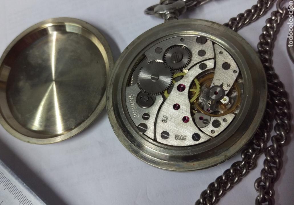 Relojes de bolsillo: RELOJ DE BOLSILLO THERMIDOR 18 RUBIS MADE IN USSR FUNCIONANDO - Foto 6 - 168474797