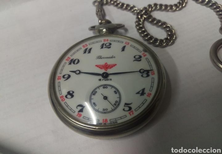 RELOJ DE BOLSILLO THERMIDOR 18 RUBIS MADE IN USSR FUNCIONANDO (Relojes - Bolsillo Carga Manual)