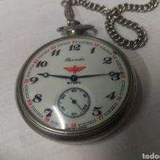 Relojes de bolsillo: RELOJ DE BOLSILLO THERMIDOR 18 RUBIS MADE IN USSR FUNCIONANDO. Lote 168474797