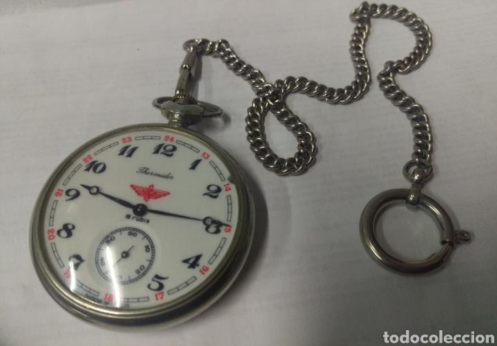 Relojes de bolsillo: RELOJ DE BOLSILLO THERMIDOR 18 RUBIS MADE IN USSR FUNCIONANDO - Foto 2 - 168474797