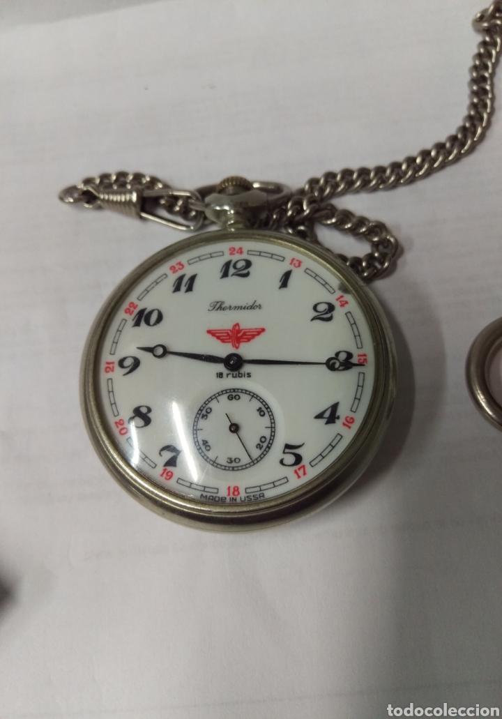 Relojes de bolsillo: RELOJ DE BOLSILLO THERMIDOR 18 RUBIS MADE IN USSR FUNCIONANDO - Foto 3 - 168474797