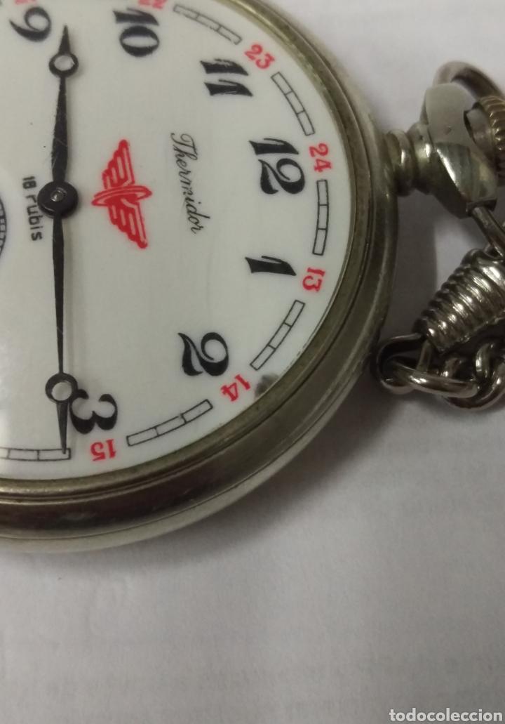 Relojes de bolsillo: RELOJ DE BOLSILLO THERMIDOR 18 RUBIS MADE IN USSR FUNCIONANDO - Foto 5 - 168474797