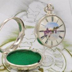 Relojes de bolsillo: RELOJ BOLSILLO CATALINO J.M.JACKSON-DOBLE CAJA DE PLATA-1ER.TERCIO SIGLO XIX-FUNCIONANDO. Lote 168579168