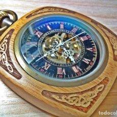Relojes de bolsillo: RELOJ BOLSILLO DE BAMBOO- MECANICO.. Lote 168956926
