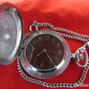 Relojes de bolsillo: ANTIGUO RELOJ DE CUERDA MECÁNICO MILITAR DE BOLSILLO SOVIÉTICO URSS UNIÓN SOVIÉTICA RUSIA FUNCIONA. Lote 168964544