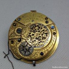 Relojes de bolsillo: MAQUINARIA RELOJ DE BOLSILLO, VERGE FUSEE ( CATALINA). Lote 169028664
