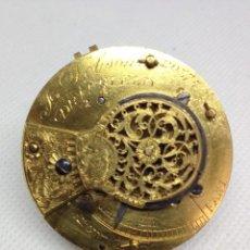 Relojes de bolsillo: MAQUINARIA RELOJ DE BOLSILLO, VERGE FUSEE ( CATALINA). Lote 169033968