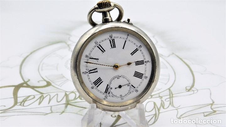 Relojes de bolsillo: LONGINES-RELOJ DE BOLSILLO REMONTOIRE-2 TAPAS-CIRCA 1894-FUNCIONANDO - Foto 2 - 155443866