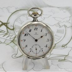 Relojes de bolsillo: OMEGA-RELOJ BOLSILLO-DE PLATA-CIRCA 1919-FUNCIONANDO. Lote 169233224