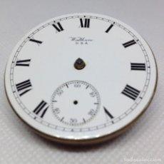 Relojes de bolsillo: MAQUINARIA RELOJ BOLSILLO WALTHAM AÑO 1909. Lote 169235312