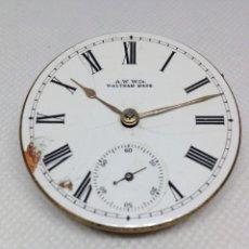 Relojes de bolsillo: ANTIGUA MAQUINARIA RELOJ DE BOLSILLO- WALTHAM AÑO 1.900. Lote 169240444
