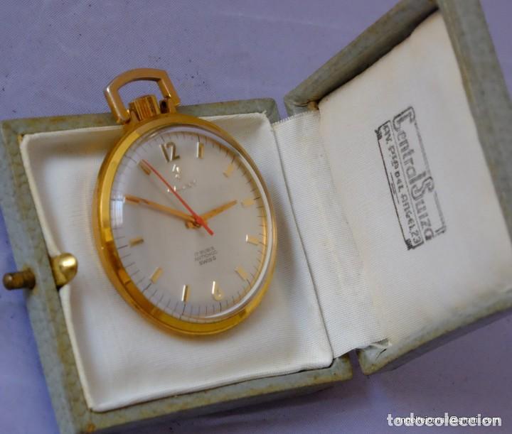RELOJ DE BOLSILLO CAUNY, CHAPADO EN ORO.NUEVO.! (Relojes - Bolsillo Carga Manual)