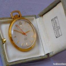 Relojes de bolsillo: RELOJ DE BOLSILLO CAUNY, CHAPADO EN ORO.. Lote 169410012