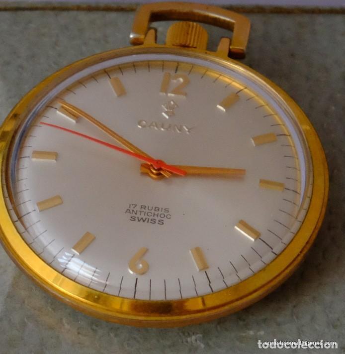 Relojes de bolsillo: Reloj de bolsillo Cauny, Chapado en oro.NUEVO.! - Foto 2 - 169410012