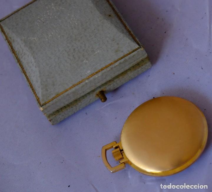 Relojes de bolsillo: Reloj de bolsillo Cauny, Chapado en oro.NUEVO.! - Foto 3 - 169410012