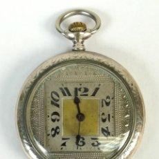 Relojes de bolsillo: RELOJ DE BOLSILLO. CAJA DE PLATA DECORADA. SIGLO XX.. Lote 169410576