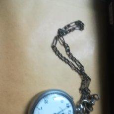 Relojes de bolsillo: RELOJ BOLSILLO REGULADOR NACIONAL CON CADENA. Lote 169423816
