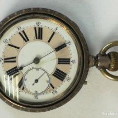 Relojes de bolsillo: RELOJ DE BOLSILLO. CAJA DE PLATA. L. MAS. 15 RUBIS. SIGLO XX. GINEBRA. Lote 169499076
