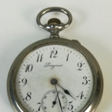 Relojes de bolsillo: RELOJ DE BOLSILLO. CAJA DE METAL NIQUELADO. LONGINES. SIGLO XX. SUIZA. Lote 169627528