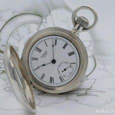 Relojes de bolsillo: AMERICAN WALTHAM WATCH CO-FANTÁSTICO Y GRAN RELOJ DE BOLSILLO-60 MM.-1889-DE PLATA-FUNCIONANDO. Lote 169694996