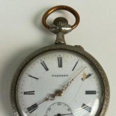Relojes de bolsillo: RELOJ DE BOLSILLO. CAJA DE METAL NIQUELADO. TORPEDO. SIGLO XX. SUIZA. Lote 169853700