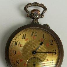 Relojes de bolsillo: RELOJ DE BOLSILLO. CAJA DE METAL HOMENAJE AL MINERO. SIGLO XX. FRANCIA. Lote 169854624