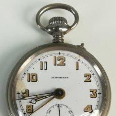 Relojes de bolsillo: RELOJ DE BOLSILLO. CAJA DE METAL NIQUELADO. JUNGHANS. ASTRA. SCHRAMBERG. 1925. Lote 169869812