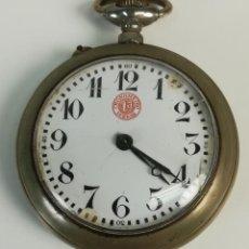 Relojes de bolsillo: RELOJ DE BOLSILLO. CAJA DE METAL DORADO. CRONÓMETRO 1ª VERDAD. GRENCHEN. 1925. Lote 169873028
