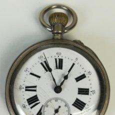 Relojes de bolsillo: RELOJ DE BOLSILLO. CAJA DE PLATA. LIGNE DROITE. 15 RUBIS. J.R.C. SIGLO XX. SUIZA. Lote 169882556