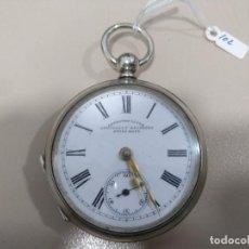 Relojes de bolsillo: RELOJ DE BOLSILLO, METAL PLATEADO. Lote 169907196