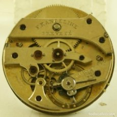 Relojes de bolsillo: RARA MAQUINA ANTIGUA BOLSILLO FRANCELINE MECANICA FR4. Lote 169940512