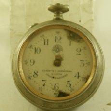 Relojes de bolsillo: ROSKOPF CUERVO Y SOBRINOS LA HABANA MECANICO . Lote 169940536