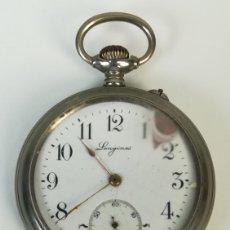 Relojes de bolsillo: RELOJ DE BOLSILLO. CAJA DE METAL TAPA DECORADA. LONGINES. SIGLO XX. SUIZA. Lote 169962832