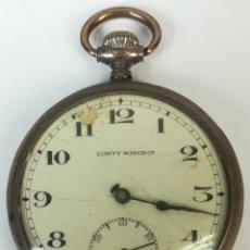 Relojes de bolsillo: RELOJ DE BOLSILLO. CAJA DE PLATA. CONTY WATCH Cº. SIGLO XX. SUIZA. Lote 169973724