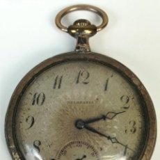 Relojes de bolsillo: RELOJ DE BOLSILLO. CAJA DE PLATA. TAPA DECORADA. BELGRAVIA. SIGLO XX. SUIZA. Lote 169977472