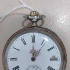 Relojes de bolsillo: RELOJ DE BOLSILLO DE PLATA Y PLATA COBREADA. Lote 169979504