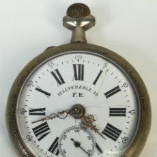 Relojes de bolsillo: RELOJ DE BOLSILLO. CAJA DE METAL. INSUPERABLE 1A. F. R. SIGLO XX. SUIZA. Lote 169986000