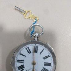 Relojes de bolsillo: RELOJ DE BOLSILLO PLATA. Lote 170003736