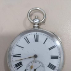 Relojes de bolsillo: RELOJ DE BOLSILLO PLATA. Lote 170008680