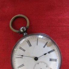 Relojes de bolsillo: ANTIGUO RELOJ SUIZO DE BOLSILLO A CUERDA MANUAL EN PLATA FALTA LLAVE AÑO 1850 1890 Y NO FUNCIONA. Lote 170013452