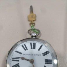 Relojes de bolsillo: RELOJ DE BOLSILLO INGLES, PLATA.. Lote 170015420