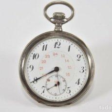 Relojes de bolsillo: ANTIGUO RELOJ EN PLATA DE LEY FUNCIONAL. Lote 170034928