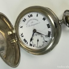 Relojes de bolsillo: RELOJ DE BOLSILLO. CAJA DE METAL. FERROCARRIL DE ANTIOQUÍA. MOERIS. SIGLO XX. SUIZA. Lote 170070068