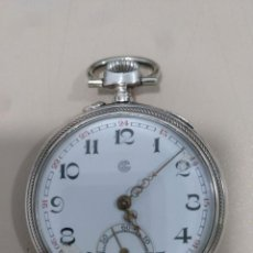 Relojes de bolsillo: RELOJ DE BOLSILLO PLATA. Lote 170100576