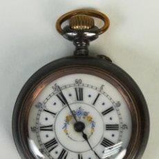Relojes de bolsillo: RELOJ DE COLLAR. CAJA DE ACERO Y ESFERA DECORADA. SIGLO XX. SUIZA. Lote 170185208