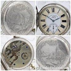 Relojes de bolsillo: JEANOT-RELOJ DE BOLSILLO SABONETA-DE PLATA-3ER.CUARTO SIGLO XIX-3 TAPAS-FUNCIONANDO. Lote 170224204