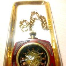 Relojes de bolsillo: RELOJ DE BOLSILLO EN MADERA NOBLE.. Lote 170282248