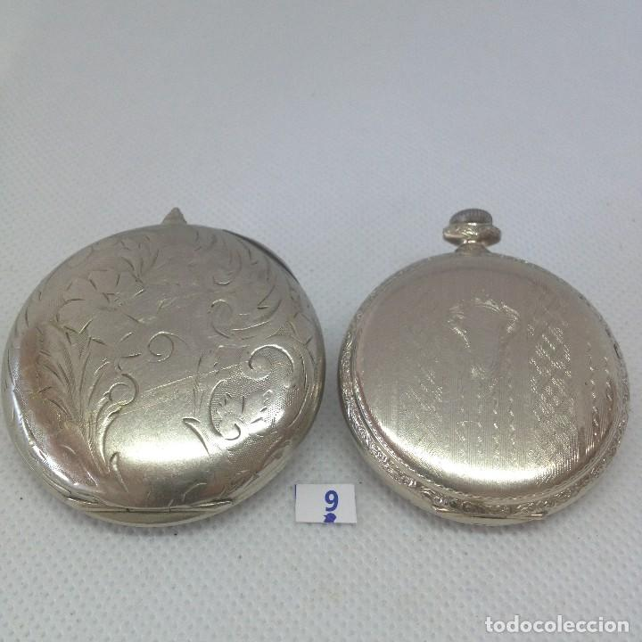 Relojes de bolsillo: LOTE - 9 .- 2 RELOJES DE BOLSILLO ANTIGUOS - Foto 2 - 170382716