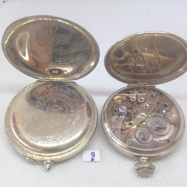 Relojes de bolsillo: LOTE - 9 .- 2 RELOJES DE BOLSILLO ANTIGUOS - Foto 3 - 170382716